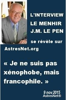 Interview - Jean-Marie LE PEN - 9 novembre 2015